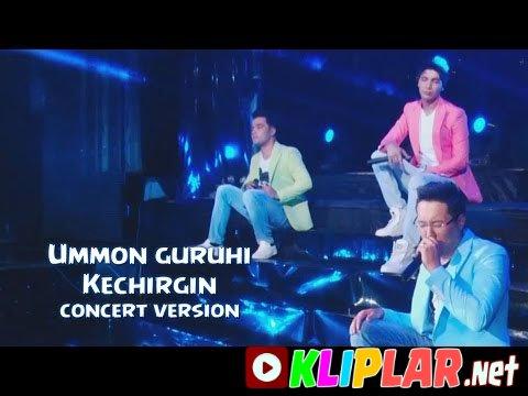 Ummon guruhi - Kechirgin - (concert version)